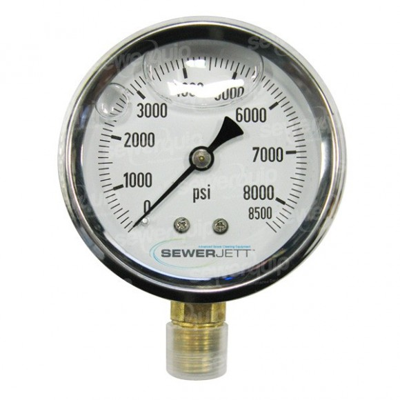 Sewerjett Pressure Gauge 8500psi
